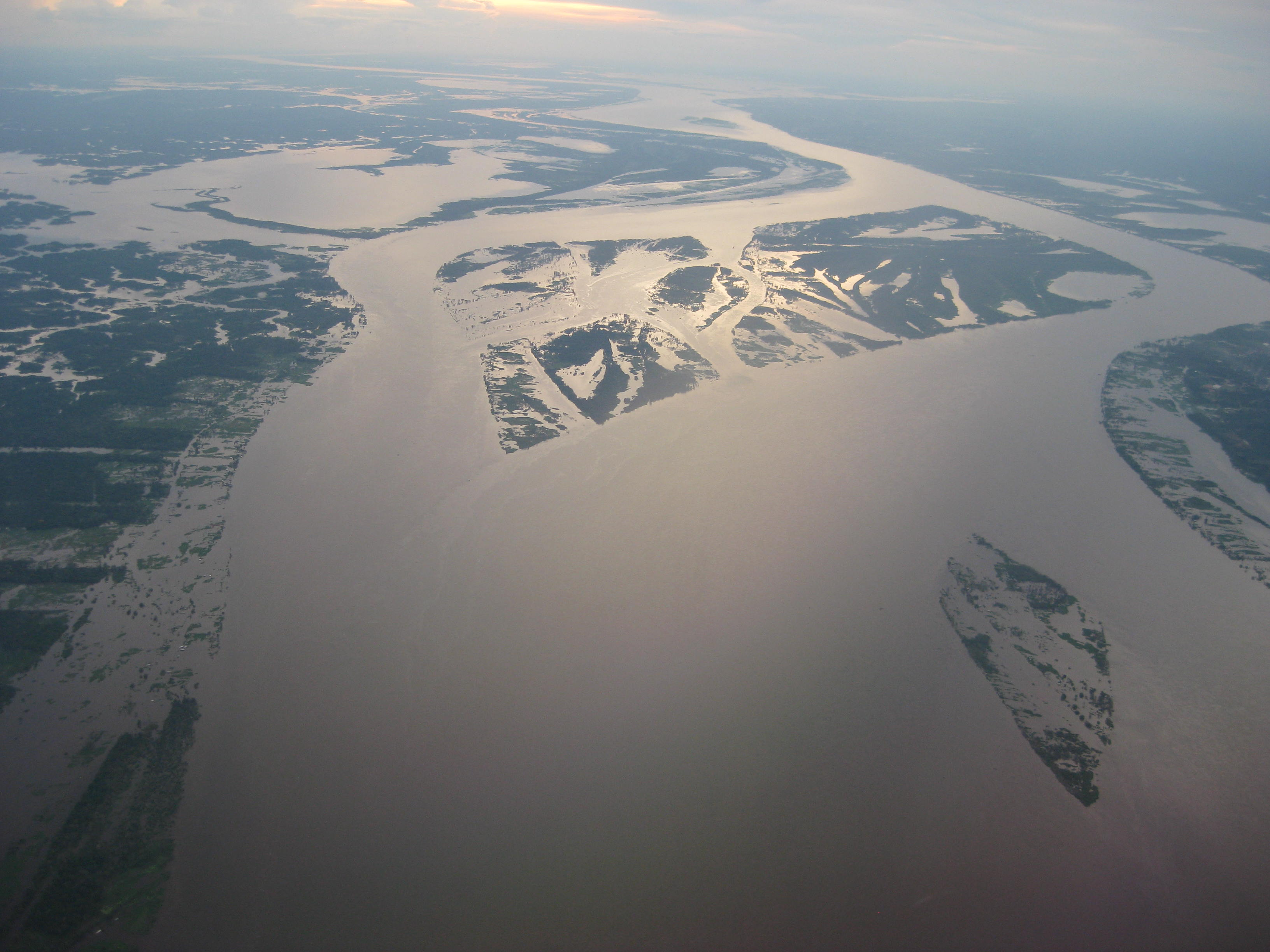 Anabranching pattern of the Solimões (Amazon) River, Brazil. (picture by E. M. Latrubesse)
